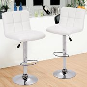 Counter Height Bar Stools Set Of 2 PU Leather Kitchen Counter Stools Bar  Chairs Height Adjustable Swivel Stool with Back Dining Chairs
