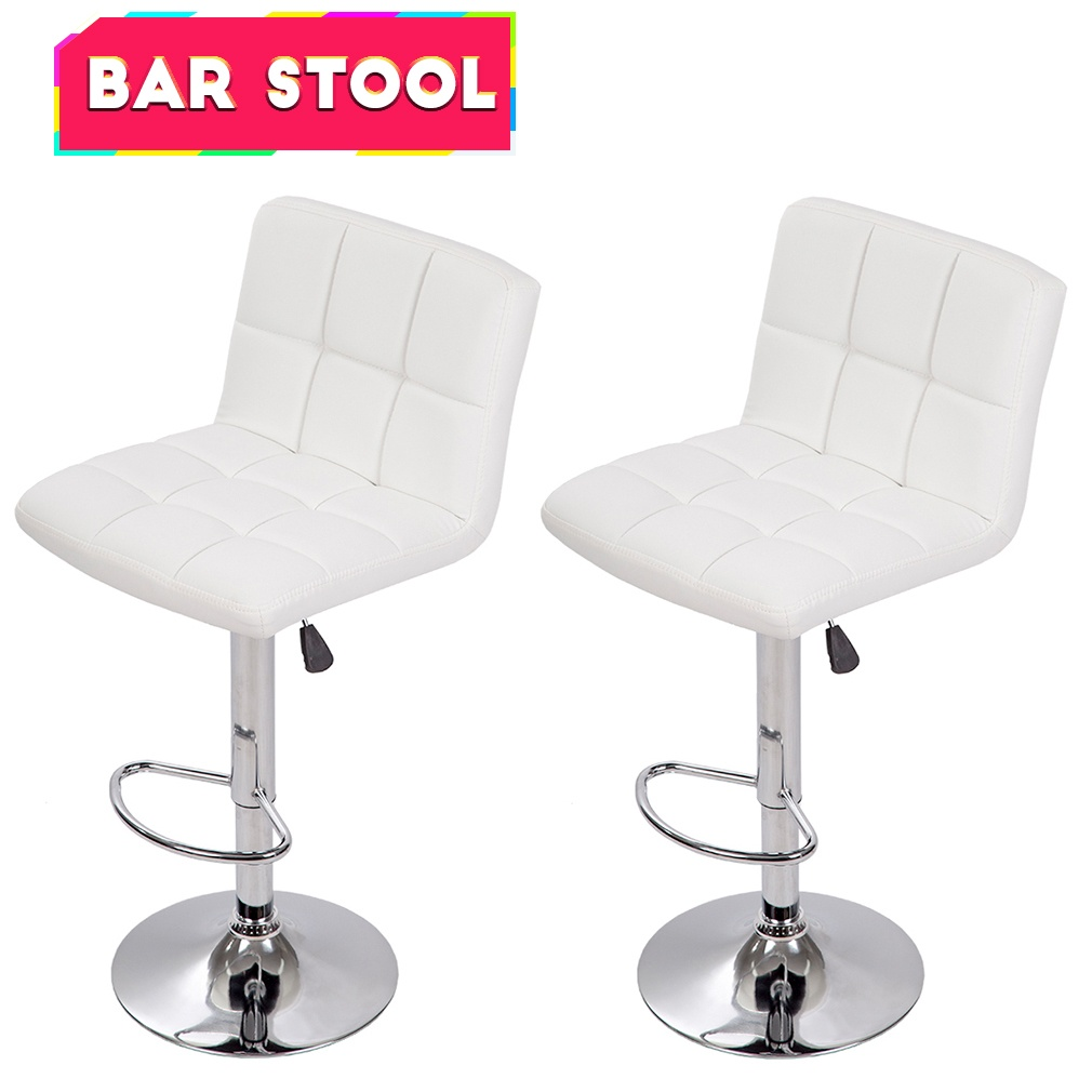 Awe Inspiring Counter Height Bar Stools Set Of 2 Pu Leather Kitchen Counter Stools Bar Chairs Height Adjustable Swivel Stool With Back Dining Chairs Gamerscity Chair Design For Home Gamerscityorg