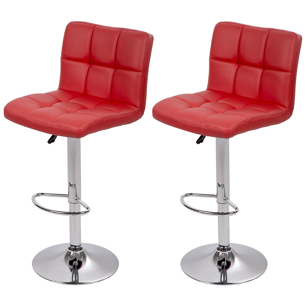 Wondrous Counter Height Bar Stools Set Of 2 Pu Leather Kitchen Counter Stools Bar Chairs Height Adjustable Swivel Stool With Back Dining Chairs Beatyapartments Chair Design Images Beatyapartmentscom